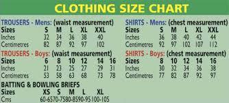 bat size chart cricket gear size charts
