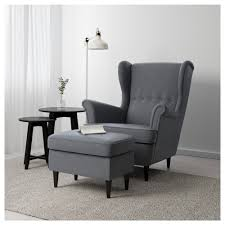 chair and footstool. ikea strandmon footstool works as an extra seat or footstool. chair and k