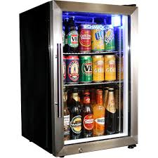 Schmick 68Litre Tropical Rated Mini Glass Door Bar Fridge Model EC68-SSH-(1