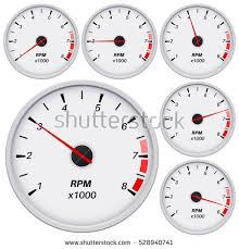 rpm gauge vector. tachometer. vector illustration isolated on white background rpm gauge t