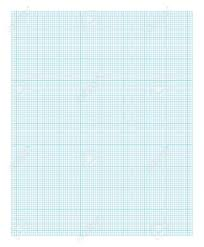 Blue And White Lined Graph Paper Isolated On White Background