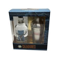 cazadores tequila blanco gift pack with shaker