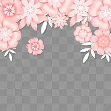 <b>Pink Flower</b> Border PNG Images | Vector and PSD Files | Free ...