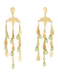 18k peridot chandelier earrings
