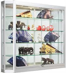 locking retail cabinet 4 shelf silver