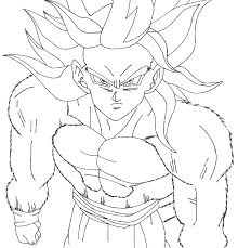 Small Picture Goku coloring pages super saiyan 4 ColoringStar
