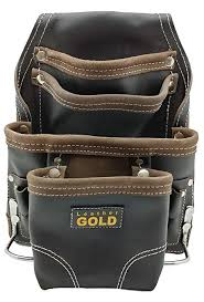 leather gold heavy duty tool pouch carpenters tool pouch 3150 black oil tanned 10 pockets 2 hammer holders reinforced seams com