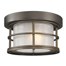 exterior additions oil rubbed bronze 10 inch one light outdoor ceiling light with frosted