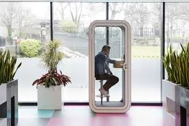 Office pods Curved Skyscanner Office Pod Future Of Work Robin The State Of The Office Pods Robin