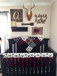 red crib bedding boy crib bedding buck deer black arrows red black buffalo check