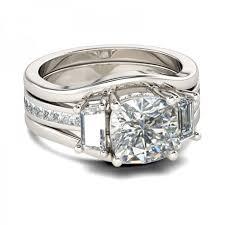 cushion cut white sapphire sterling silver women s bridal ring set joancee jewelry