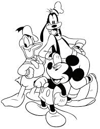 Small Picture Coloring Pages Disney Goofy Christmas Coloring Pages Printable