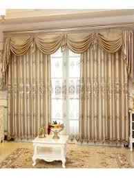 drapes with valance. This Faux Silk Valance Curtain Set Includes Two Panels Of Curtains, Sheers And One Panel Valanc\u2026   Living Room Luxury Curtains Drapes With L