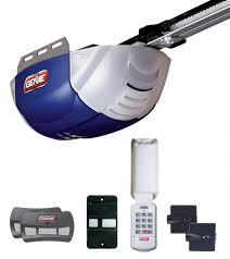 genie 2042 tkc quietlift 800 1 2 hp dc belt garage door opener with 2 3 on remote wall console wireless keypad and safe t beams