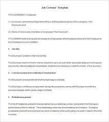 Free Employment Contract Templates 18 Job Contract Templates Word Pages Docs Free Premium