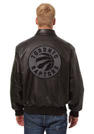 toronto raptors mens black all leather jacket heavyweight jacket image 2
