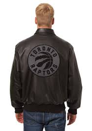 toronto raptors mens black all leather jacket heavyweight jacket image 2