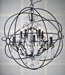 elegant orb chandelier with crystals regard to invigorate clubnoma ideas 3