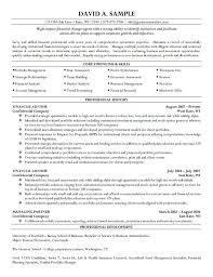 best photos of professional summary resume examples finance financial advisor resume sample