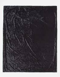 Black Velvet Throw Blanket