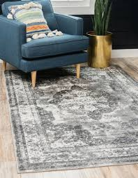 unique loom sofia collection traditional vintage gray area rug 4 x 6 wantitall
