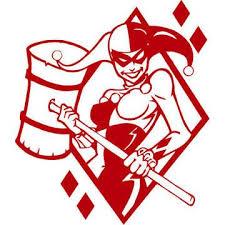 Harley Quinn Decal Tattoo Tetování Kresby šablony