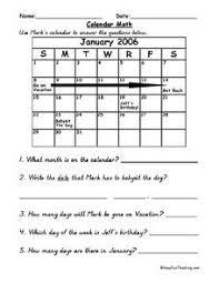 Calendar Math Lesson Plan For 2nd 5th Grade Lesson Planet