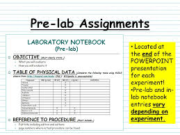 organic chemistry laboratory notebook maintenance ppt video pre lab assignments located at the end of the powerpoint presentation for each experiment