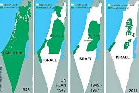 Image result for palestine and israel map
