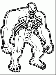 Small Picture Venom Spiderman Enemy Coloring Pages Printable Womanmatecom