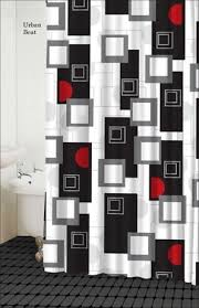 black and red shower curtain. urban beat shower curtain (black/white/red/grey) by famous home black and red 0