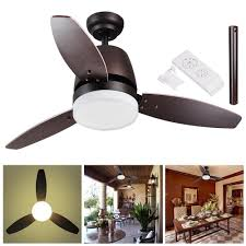 amazon com yescom 42 bronze ceiling fan with led light and