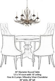 chandelier size for dining room. Exellent Dining Fine Art Lamps 815940 Chandelier From The Villandry Silver Collection Intended Size For Dining Room A