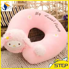 office nap pillow. 2016 Hot Sale 28cm Pink U Shape Neck Pillow Cute Plush Travel Office Nap Best Gifts For Kids And Girls ST223-in Stuffed \u0026 Animals From