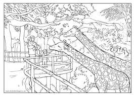 Small Picture At the Zoo Colouring Page