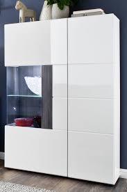 Details Zu Vitrine Highboard Hochglanz Weiß Und Grau Sardegna Wohn Esszimmer Schrank Tokyo