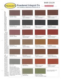Stamping Packet And Color Chart Buesser Concrete
