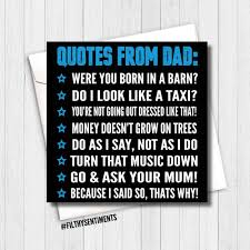 Dad Quotes Card Fs293 G0040