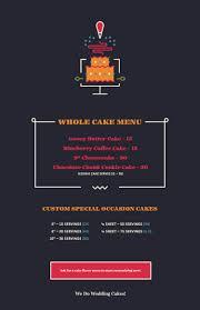 Cake Menu Yolklore