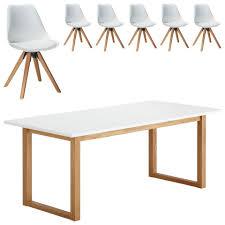 Essgruppe Hanstholmblokhus 90x190 6 Stühle Weiß Dänisches