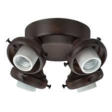 architecture hunter ceiling fan light kits parts incredible 4 new bronze fluorescent kit at