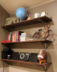 ... Wall Shelves Made From Pallets Thin Iron Holder Varnished Furniture  Classic Design Strong Wooden Material Square ...