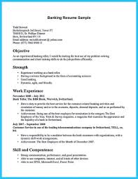 Sample Of Bank Teller Resume With No Experience Httpwww Example For