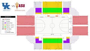 Paradise Cove Seating Chart Kentucky Vs Arizona State Basketball In Paradise