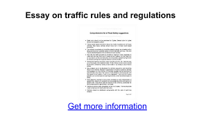 essay on traffic rules and regulations google docs
