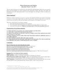 Thesis Statement Examples About Business For Online