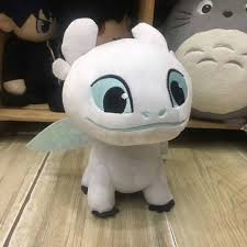 Clay Light Fury Us 5 72 20 Off Light Fury Plush Toy 16cm Movie Dragon 3 Toothlesss Girlfriend White Dragon Soft Stuffed Doll For Kids Gift In Stuffed Plush