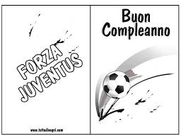 Biglietti Compleanno Calcio Da Colorare Squadra Juve