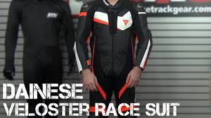 dainese veloster race suit review from sportbiketrackgear com