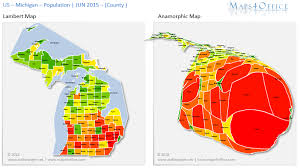 Powerpoint Heat Map Template Us Michigan Map County Population ...
